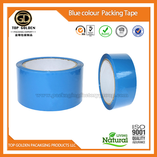 Blue shipping packing tape