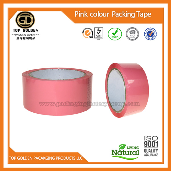 Pink gift packing tape